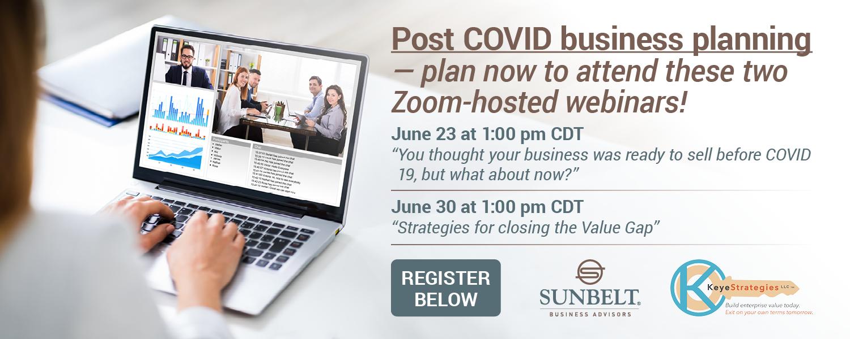 post covid business planning webinars
